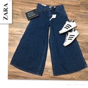 Zara Limited Edition Super Wide Leg Denim Size 4